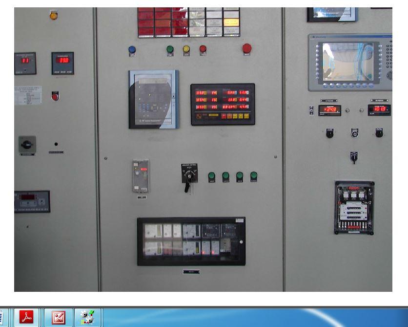 Hemavathy hydel project PLC Panel front view